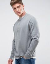 Abercrombie & Fitch Henley Sweatshirt White Label in Gray Marl