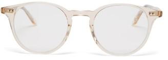 Garrett Leight Clune Round Acetate Glasses - Clear