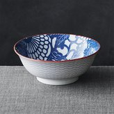 "Crate & Barrel Kiso Blue 8"" Noodle Bowl"