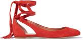 Sigerson Morrison Elami lace-up suede flats