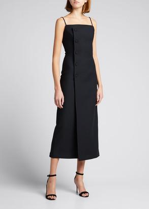 MATÉRIEL Fitted Spaghetti-Strap Midi Dress