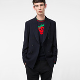 Paul Smith Men's Tailored-Fit Navy And Black Double-Breasted Wool Blazer