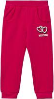 Moschino Pink Heart Print Track Pants