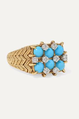 Fred Leighton 1960s 18-karat Gold, Turquoise And Diamond Ring