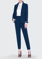 Akris Punto Pebbled Crepe Open Blazer