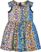 No Added Sugar Multi Floral and Lurex Dress