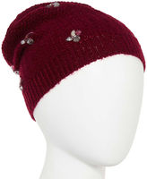 MIXIT Mixit Reverse Jersey Embellished Beanie