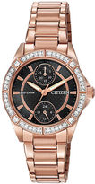 Swarovski Citizen Drive Ladies Pink Gold-Tone Watch with Crystal Accents
