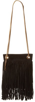 Saint Laurent Small Grace Suede Shoulder Bag