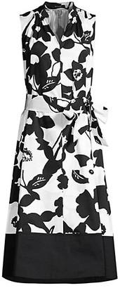 Natori Anemone Garden Mandarin Dress