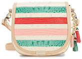 Brahmin Cayo Coco Collection Mini Sonny Tasseled Striped Saddle Bag