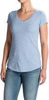 Cynthia Rowley V-Neck T-Shirt - Pima Cotton-Modal, Short Sleeve (For Women)