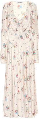 Paco Rabanne Floral crepe de chine midi dress