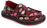 Sanuk Girl's 'Donna - Lil Icon' Lip Print Slip-On
