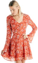 Sole Society Floral Bell Sleeve Dress