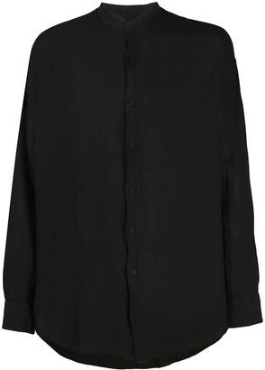 Costumein Collarless Long Sleeved Shirt