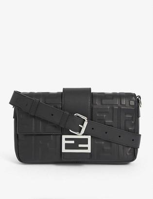 Fendi FF embossed baguette bag