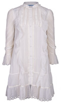 Blumarine Ruffle Front Shirt Dress