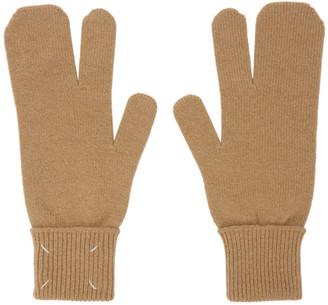 Maison Margiela Beige Tabi Gloves