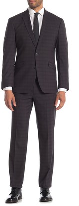 Kenneth Cole Reaction Plaid Techni-Cole Performance Slim Fit Suit