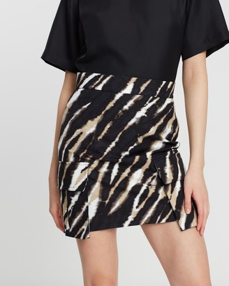 House of Holland Zebra Tie Dye Mini Skirt