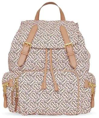 Burberry the medium rucksack in a monogram print