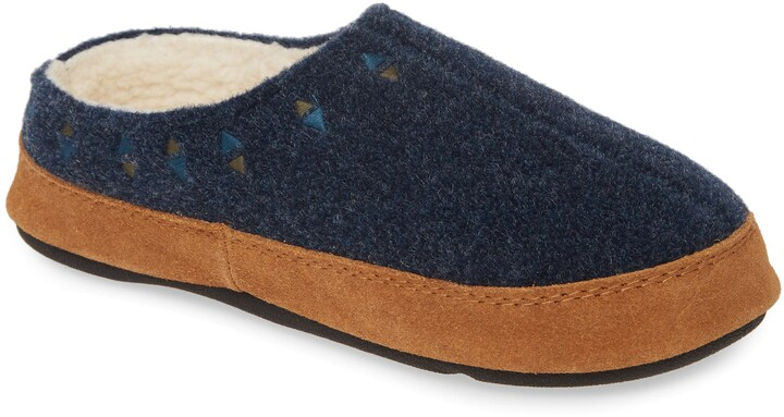Acorn Geo Embroidered Hoodback Slipper