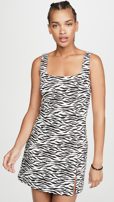 re:named apparel Zebra Mini Dress