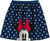 Cath Kidston Minnie & Mickey Spot Barkcloth Skirt