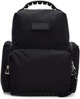 Kenzo Black Nylon Solid Backpack