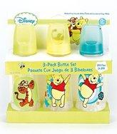 Disney Winnie The Pooh Three Pack Deluxe Baby Bottle Set