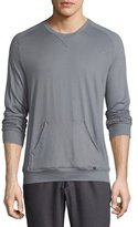 Hanro Paolo Long-Sleeve Shirt, Frost Gray