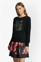 French Connection Animal Knit Tiger Sequin Jumper
