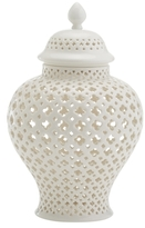 Twos Company Carthage Medium Porcelain Lantern