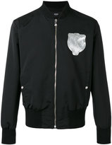 Versus patch-embellished bomber jacket - men - Cotton/Polyamide/Spandex/Elastane/Viscose - 48