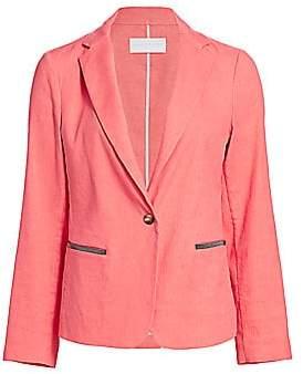 Fabiana Filippi Women's Embellished Pocket Linen Jacket