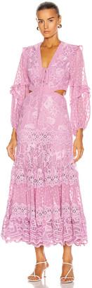 Alexis Zendaya Dress in Lilac Macrame | FWRD