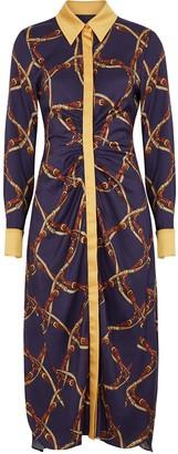 Jonathan Simkhai Printed Satin-twill Shirt Dress