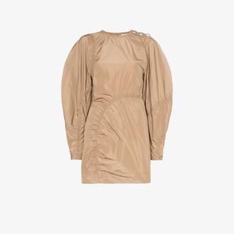 Ganni Ruched Detail Mini Dress