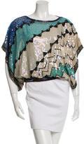 Candela Embellished Silk Top