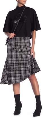 Gracia Tweed Knit Asymmetrical Skirt