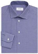Eton Men's Gingham Cotton Dress Shirt