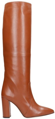 Paris Texas High Heels Boots In Leather Color Leather