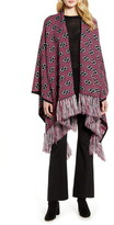 Gucci Double-G Stripe Metallic Jacquard Poncho