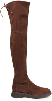 Stuart Weitzman Kristina Stretch-suede Over-the-knee Boots
