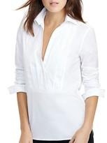 Lauren Ralph Lauren Pleated Tuxedo Shirt