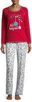 SLEEP CHIC Sleep Chic Long Sleeve Knit Pant Pajama Set