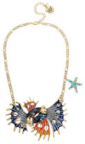 Betsey Johnson Glitter Reef Fish Necklace