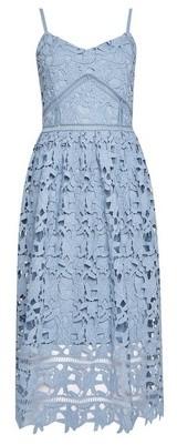 Dorothy Perkins Womens Vero Moda Blue Crochet Lace Midi Dress, Blue
