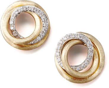 Marco Bicego Jaipur Diamond-Link Stud Earrings